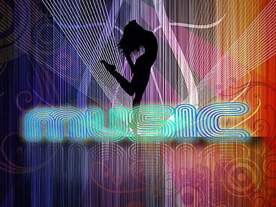 Music Poster by John Swartz