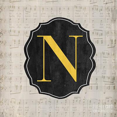 Musical Monogram Poster