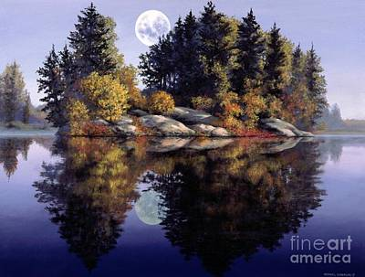 Muskoka  Moon Poster by Michael Swanson