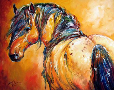 Mustang Appaloosa Poster