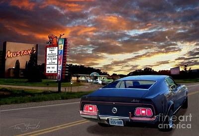 Mustang Muscle Poster by Tom Straub