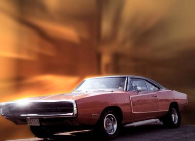 My 70 Charger 440 Six Pack Poster by Thomas Woolworth