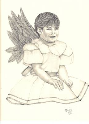 Poster featuring the drawing My Angel by Patricia Hiltz