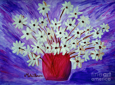 My Daisies Blue Version Poster by Ramona Matei