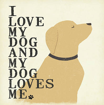 My Dog Loves Me Poster