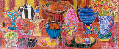 My Favourite Things, 2005 Dyes On Silk Poster by Hilary Simon