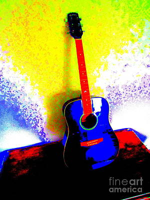 My Guitar Gently Weeps Poster by Roberto Gagliardi
