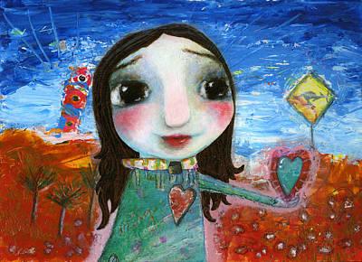 My Heart Belongs In Australia Poster by Shirley Dawson