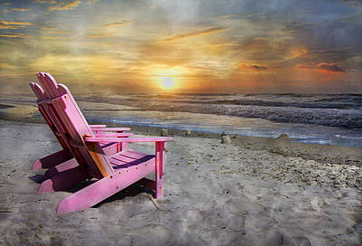 My Life As A Beach Chair Poster by Betsy Knapp