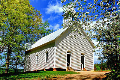 Poster featuring the photograph My Little Country Church by Geraldine DeBoer