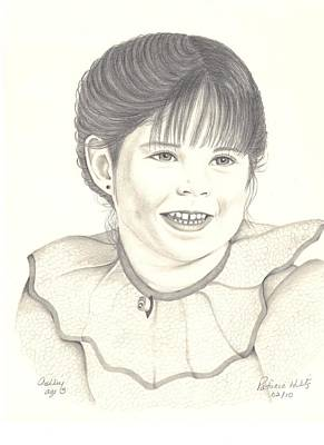 Poster featuring the drawing My Little Girl by Patricia Hiltz