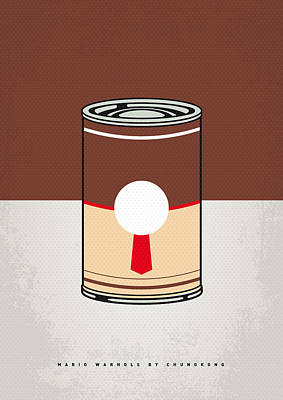 My Mario Warhols Minimal Can Poster-donkey Kong Poster by Chungkong Art