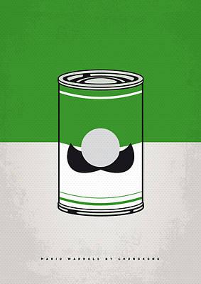 My Mario Warhols Minimal Can Poster-luigi Poster by Chungkong Art