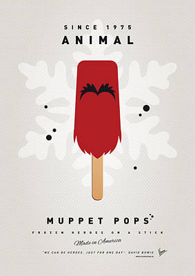 My Muppet Ice Pop - Animal Poster by Chungkong Art