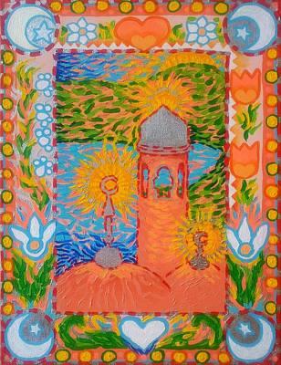 My Norwegian Folk Art Masjid Poster