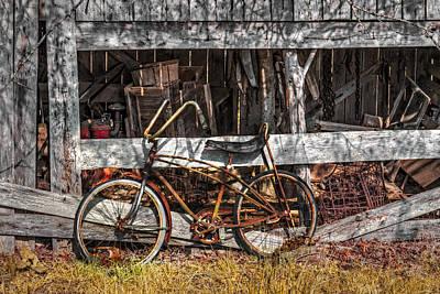 My Old Bike Poster by Debra and Dave Vanderlaan