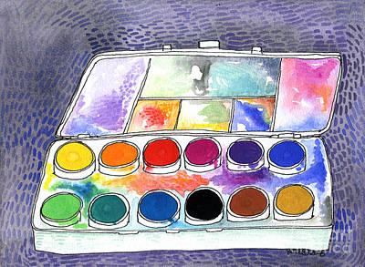 My Paintbox Poster by Linda  K Yates