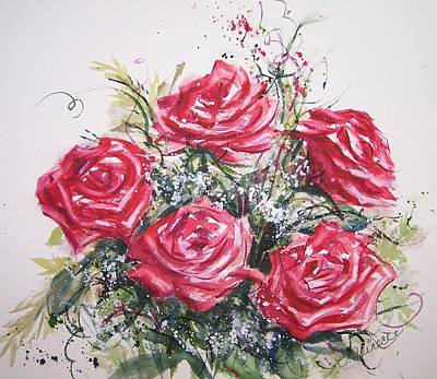 My Roses Poster by Conni  Reinecke