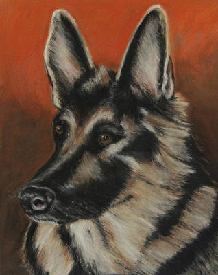 Poster featuring the painting My Sadie by Jeanne Fischer