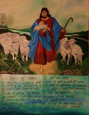 My Shepherd Poster by Christy Saunders Church