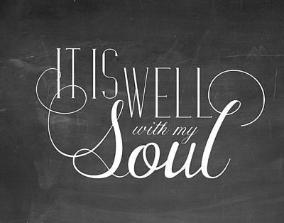 My Soul Chalkboard Poster by Amy Cummings