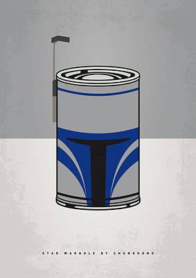 My Star Warhols Jango Fett Minimal Can Poster Poster