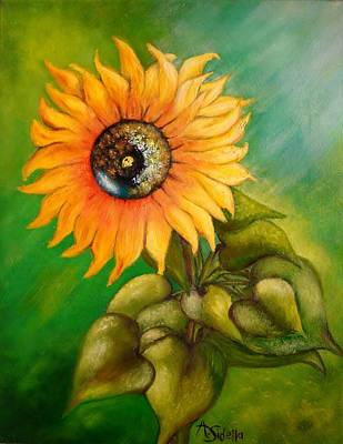 Poster featuring the painting My Sunshine by Annamarie Sidella-Felts