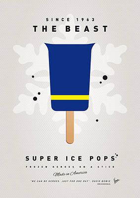 My Superhero Ice Pop - The Beast Poster by Chungkong Art