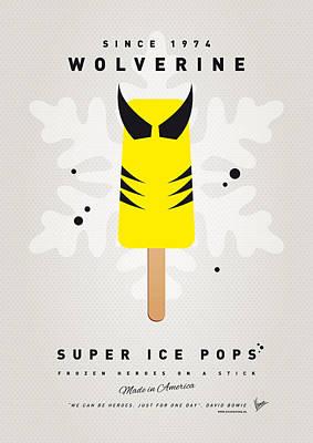 My Superhero Ice Pop - Wolverine Poster by Chungkong Art
