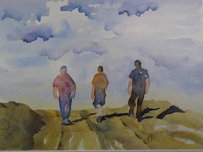 My Three Boys Poster by Ramona Kraemer-Dobson