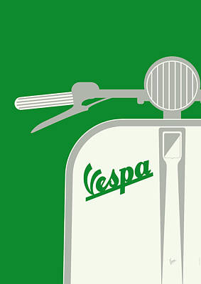 My Vespa - From Italy With Love - Green Poster by Chungkong Art
