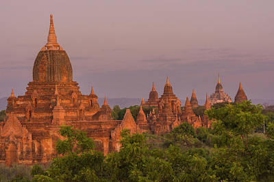 Myanmar Bagan Temples Of Bagan Poster