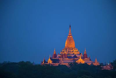 Myanmar, Bagan Twilight On Ananda Poster