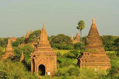 Myanmar Bagan View Of The Temples Poster