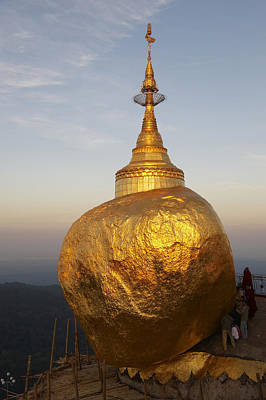 Myanmar, Burma, Kyaikhtuyo, Kyaiktiyo Poster by Tips Images