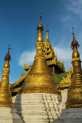 Myanmar Yangon Shwedagon Pagoda Poster by Inger Hogstrom