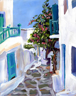 Mykonos Passages Poster by Valerie Freeman