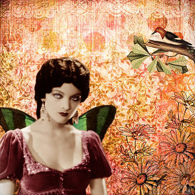 Myrna Loy And The Bird Poster by Cat Whipple