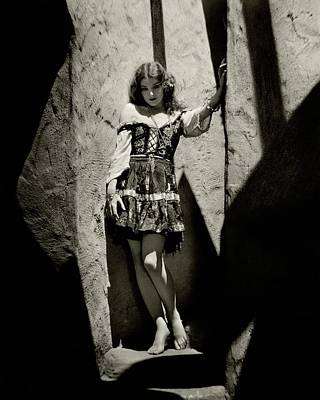 Myrna Loy In A Cave Poster by Nickolas Muray