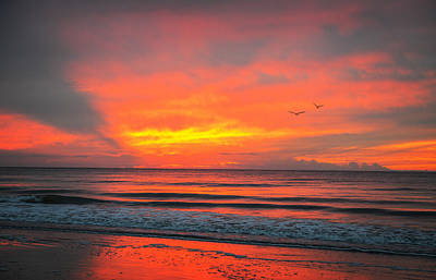 Myrtle Beach Sunrise Poster by Mary Timman