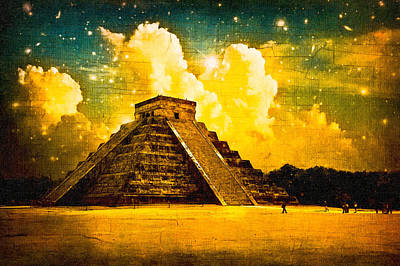 Mysteries Of The Ancient Maya - Chichen Itza Poster by Mark E Tisdale