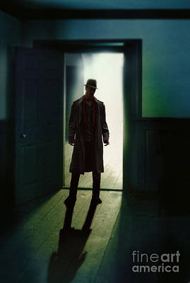 Mysterious Man In Doorway Poster by Jill Battaglia