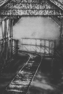 Mysterious Train Tracks Poster by Melanie Lankford Photography