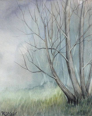 Poster featuring the painting Mystery Forest by Rebecca Davis