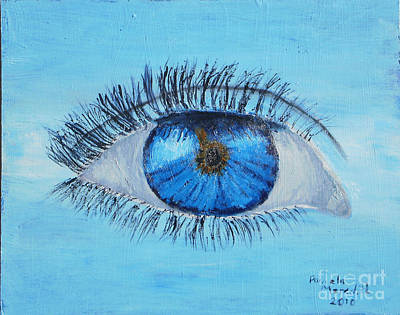 Poster featuring the painting Mystic Eye by Pamela  Meredith