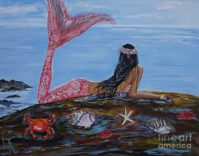 Mystic Mermaid Poster by Leslie Allen