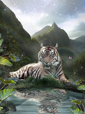 Mystic Tigress Poster by Alixandra Mullins