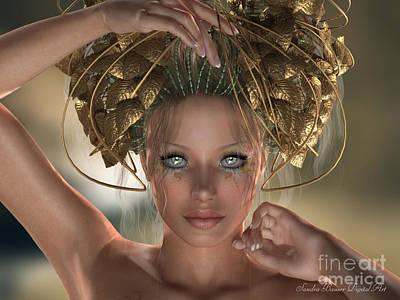 Poster featuring the digital art Mythos by Sandra Bauser Digital Art