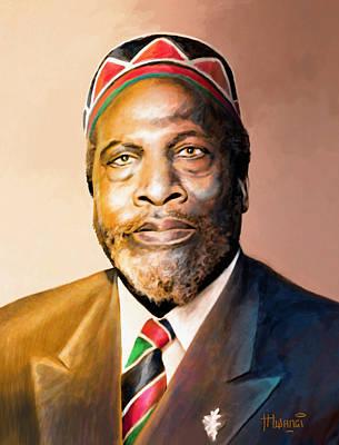 Mzee Jomo Kenyatta Poster by Anthony Mwangi