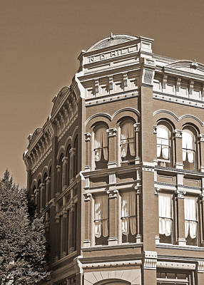 N. D. Hill Building. Port Townsend Historic District  Poster by Connie Fox